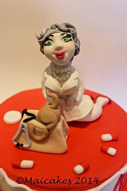 Dettaglio torta dottoressa